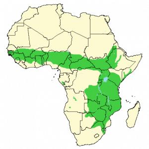 Waterbuck - Kobus ellipsiprymnus - Distribution map